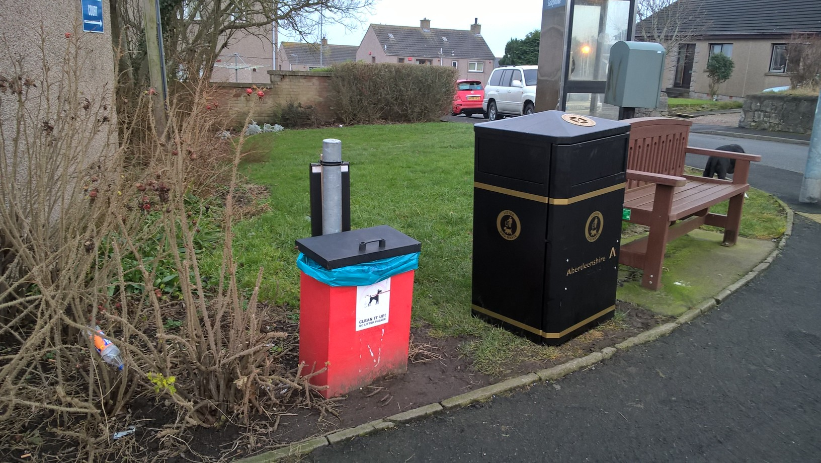 Ian mollison liberal democrat councillor for north kincardine - Rd rubbish bin ...