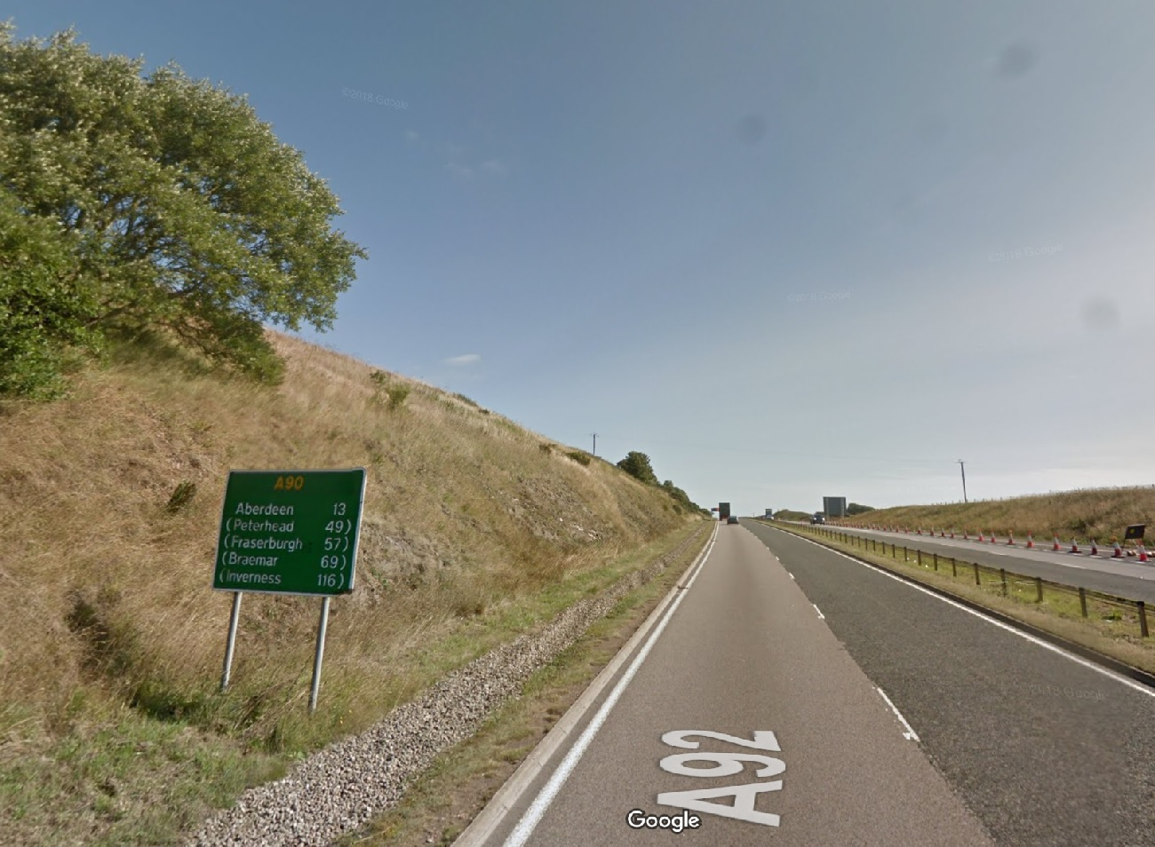 A92 road sign confusion   Ian Mollison